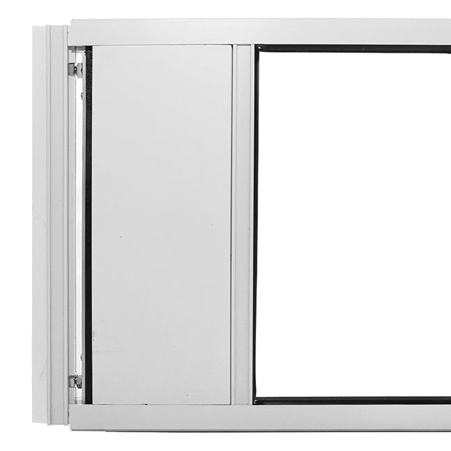 "Hale ""Omni"" Pet Door for Sash Windows adjusts to your window size for a more secure seal"