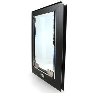 black hale cat screen door side iew