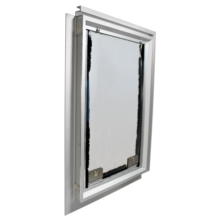 Silver Hale cat door for screen doors