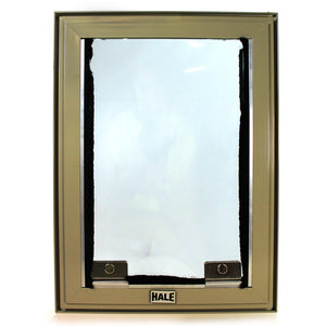 front view hale tan cat screen door