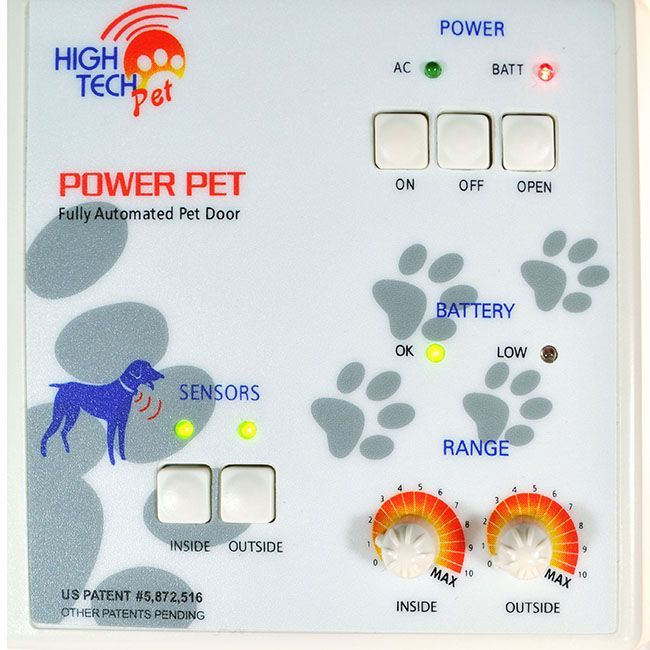 high tech power pet door controls