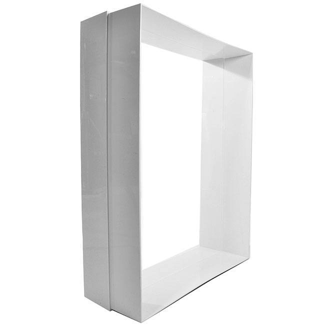 The High Tech Power Pet Door Wall Framing kit in white for adding extra length to your door when installing into walls.