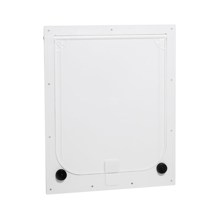 Front view of the Magnador Dog Doors for Doors & Kennels, which comes in either standard or heavy-duty magnet strength