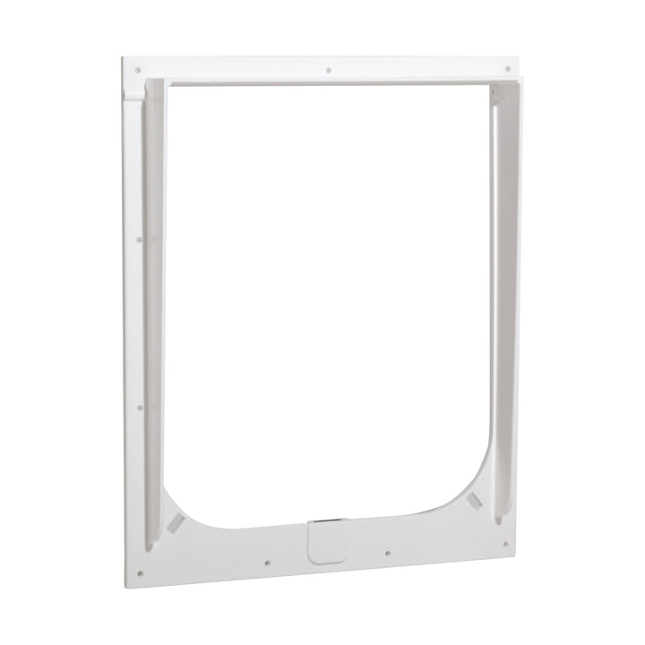 The Magnador pet door plastic frame replacement in the color white and in the size medium