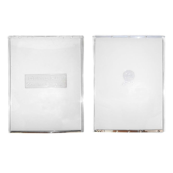 Rectangular and Circular logos on replacement dog door flaps