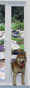 "The Ideal VPP Vinyl Patio Pet Door Panel comes with the Ideal ""Original"" Flap"