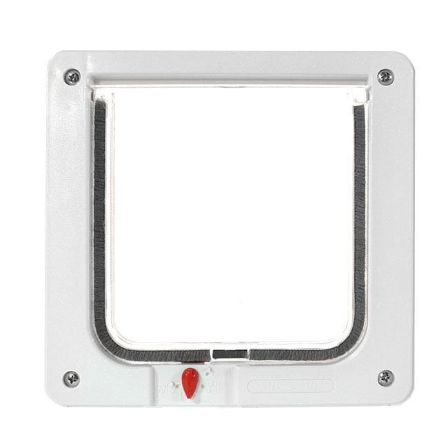 Ideal door with cat flap - locking cat flap small size
