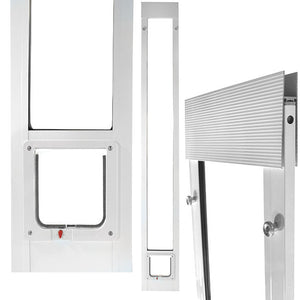 "Ideal ""Fast Fit"" Cat Door for Sliding Glass Doors can be installed tools-free, making it perfect for vacation homes and rentals"