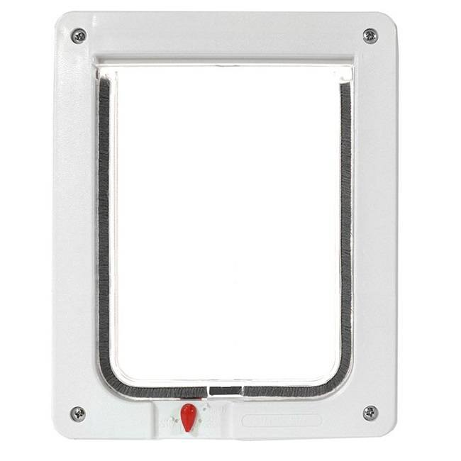 The Ideal Four-Way Locking pet door does not have any sensors or motorized parts.