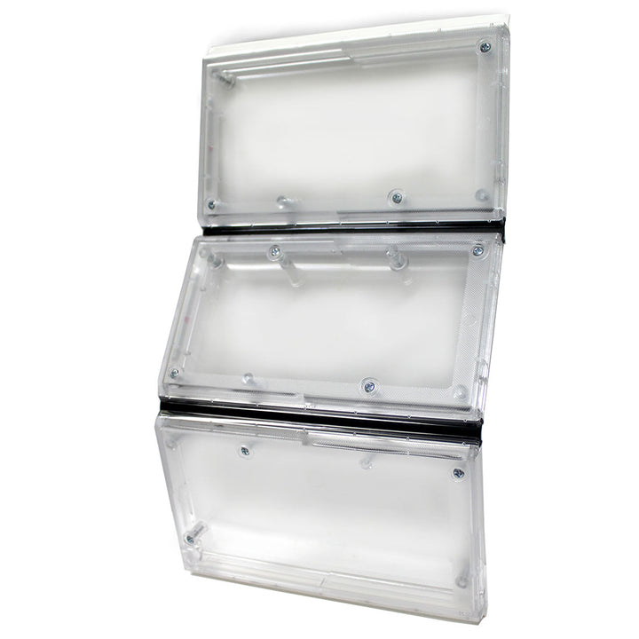 Translucent flap with three sections separated by weather strips for Ideal Ultra Flex/Draft-Stopper