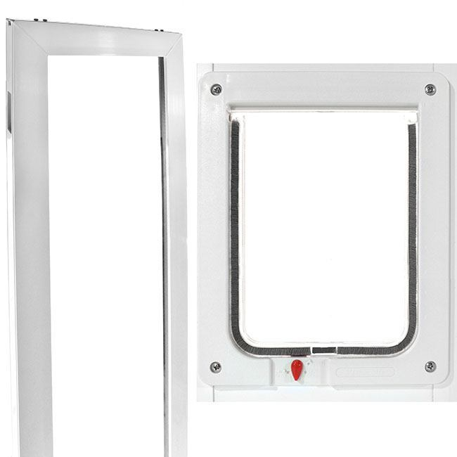 The Ideal VIP Large Cat Door Insert is made as a vinyl patio pet door for cats and dogs