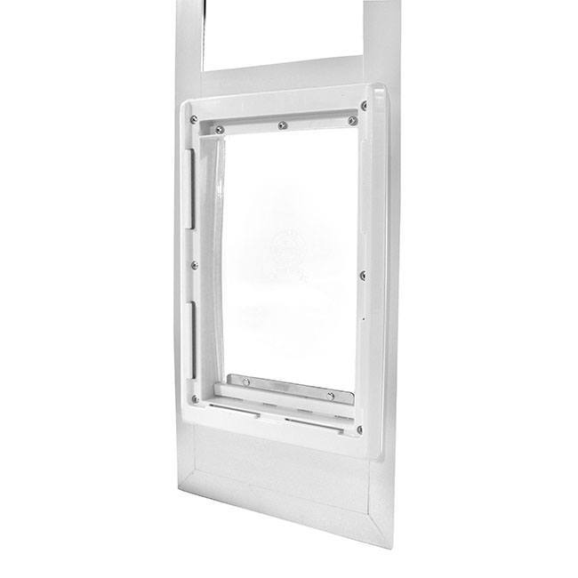 "The Ideal VPP Vinyl Patio Pet Door Panel comes with the flexible, Ideal ""Original"" flap"
