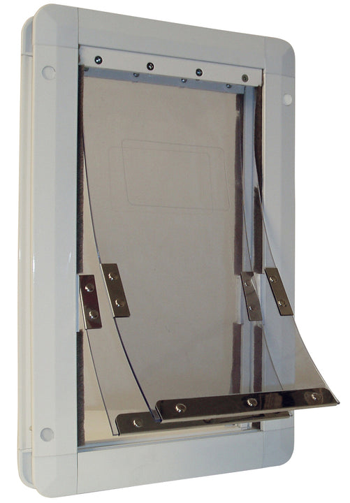 The Ideal Insulator Pet Door has a dual flap system for increased weather resistance