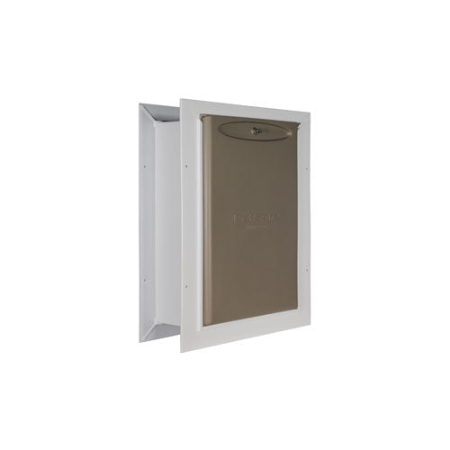 Petsafe Wall Entry Pet Door - Wall Pet Door for Dogs & Cats with locking cover for security