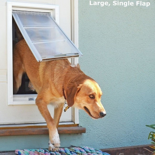 dog coming through single flap endura door mount