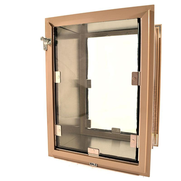 The aluminum frame Hale Pet Door in the color Arizona beige