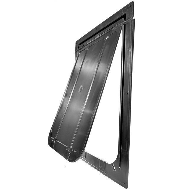 The Magnador Dog Door can be easily installed into most surfaces