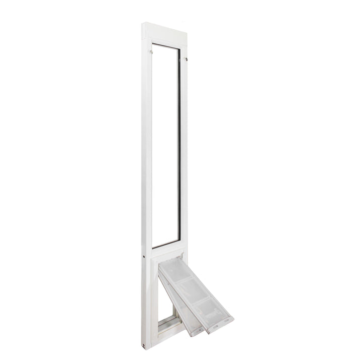 The Endura Flap Severe Weather Vinyl Sliding Glass Dog Door features a dual flap system for increased insulation value