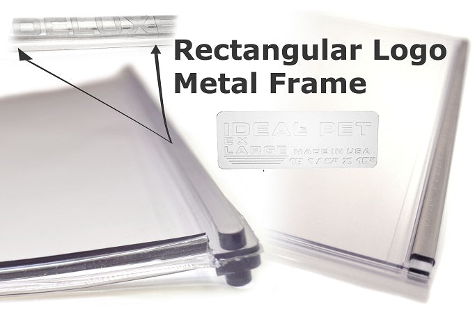 metal frame rectangular logo ideal flaps
