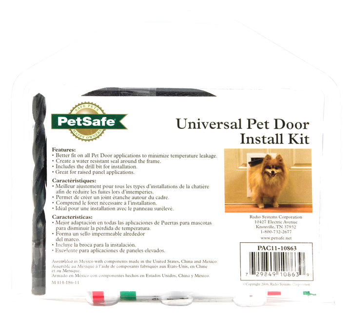petsafe packaging for pet door install kit