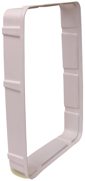 The Petsafe Wall Kit for the Electronic Smart Doors adds an additional 2 inches to your pet door.