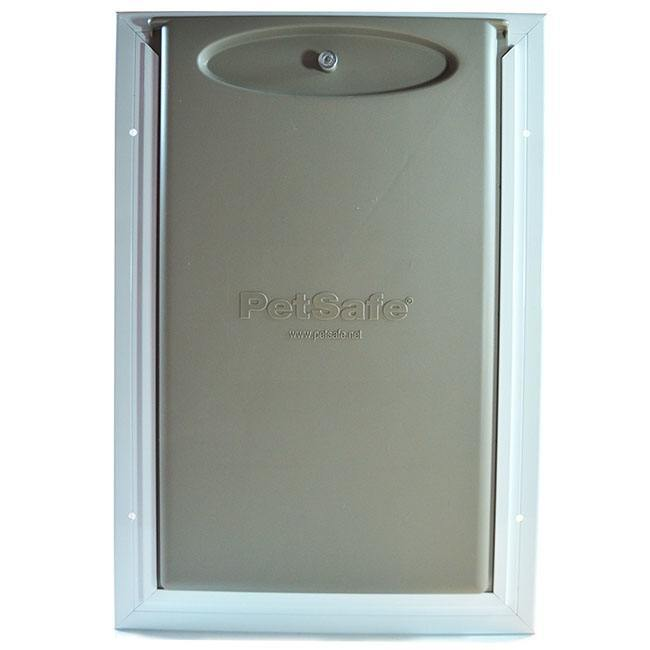 petsafe freedom aluminum pet door front view with locking cover