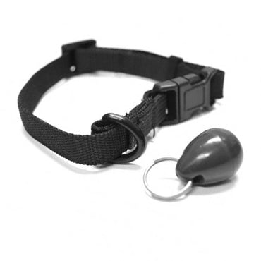 The black Petsafe Magnetic Cat Flap Collar Key that works with the electronic Staywell 480 and 932 model pet doors.
