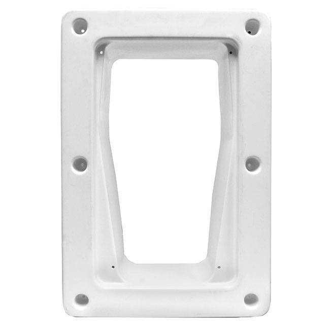 White frame for in-wall installations of the Petsafe Wall Kit