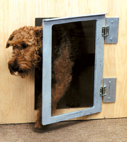 Mason kennels dog door solutions built with solid cast aluminum