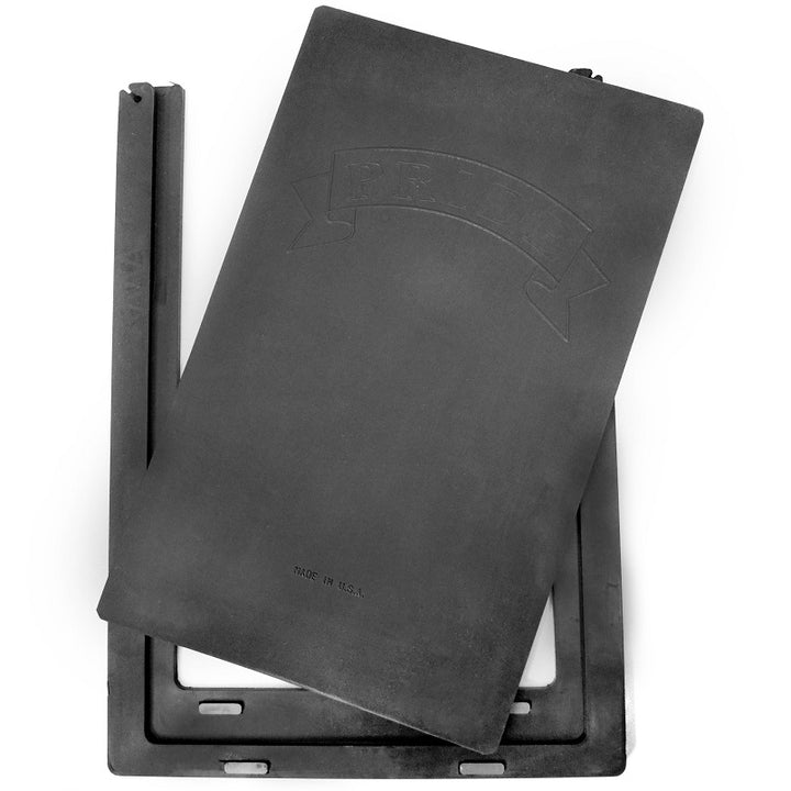 Two-piece black replacement flap for the Pride, Johnson, and Petsafe Ultimate pet doors.