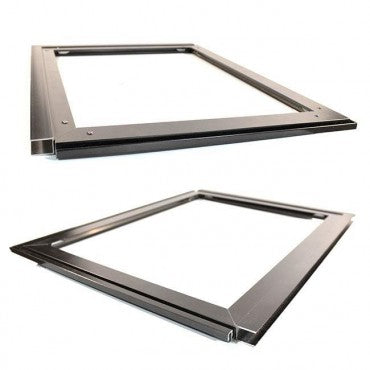"The Pride Pet Door for Screens in brushed aluminum can fit into screens up to 1/2"" thick"