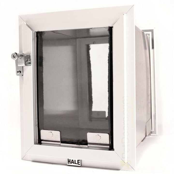 Hale dog doors for walls, Size Small, white Frame Color - adjustable magnet strength to easily train your pet.