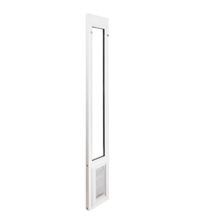 The Endura Flap Vinyl Sliding Glass Cat Door which has a double flap design for severe weather conditions