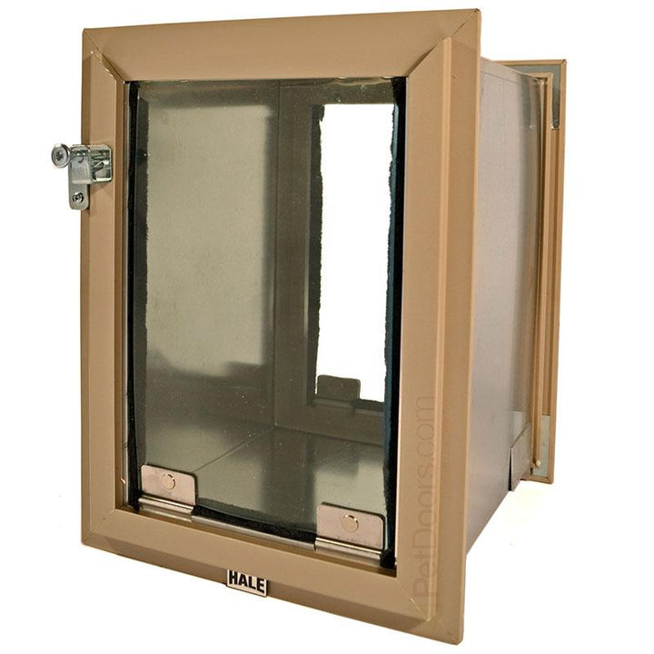 Size Medium, Arizona beige Frame Color - in wall dog door.
