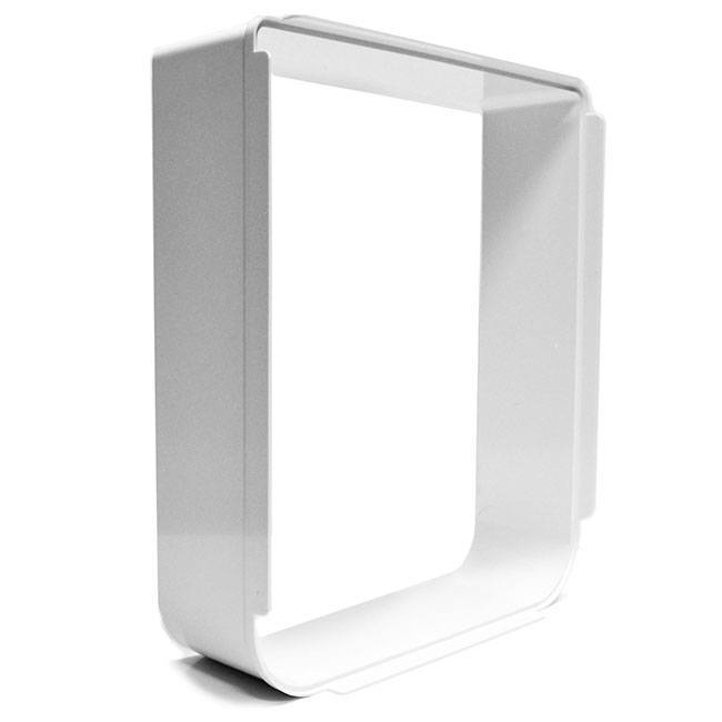 The Superflap Tunnel Extender for in-wall installations of the Microchip Pet Door and the Connect Pet Door.