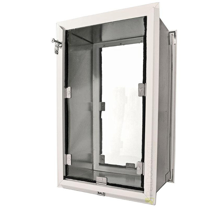 The Hale Pet Door can be installed in either interior or exterior walls