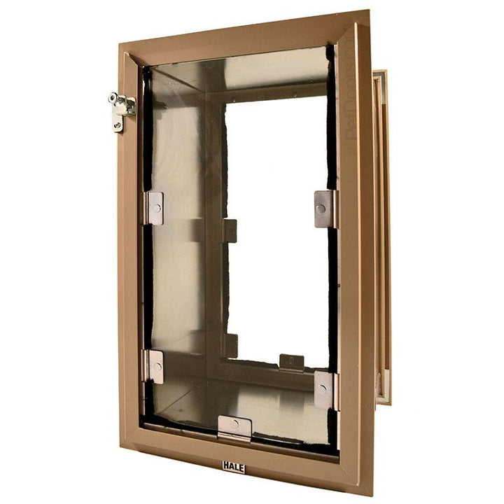 The Hale Pet Door comes in a variety of flap sizes to accommodate kitties and puppies of all sizes