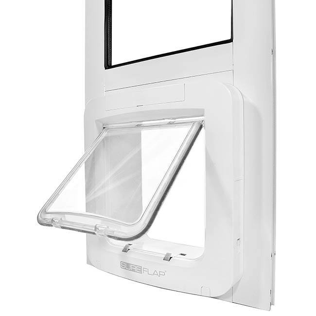 flap open on Thermo Panel 2e with SureFlap Microchip Pet Door