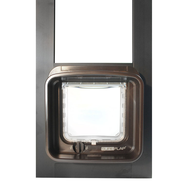 The sureflap dualscan cat flap is built for cats, but can be used for small dogs