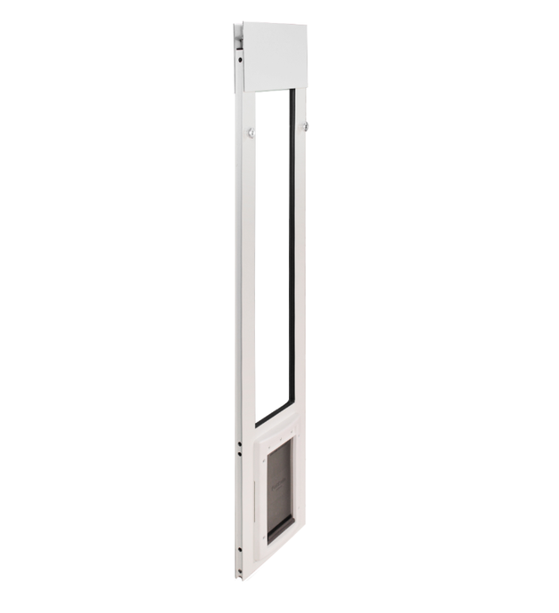 angled view pet safe dog door/petsafe cat door for sliding windows