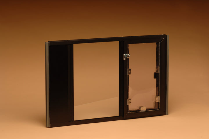 "Hale ""Omni"" Pet Door for Sash Windows in bronze comes in sizes small to large in order to fit any size pet"