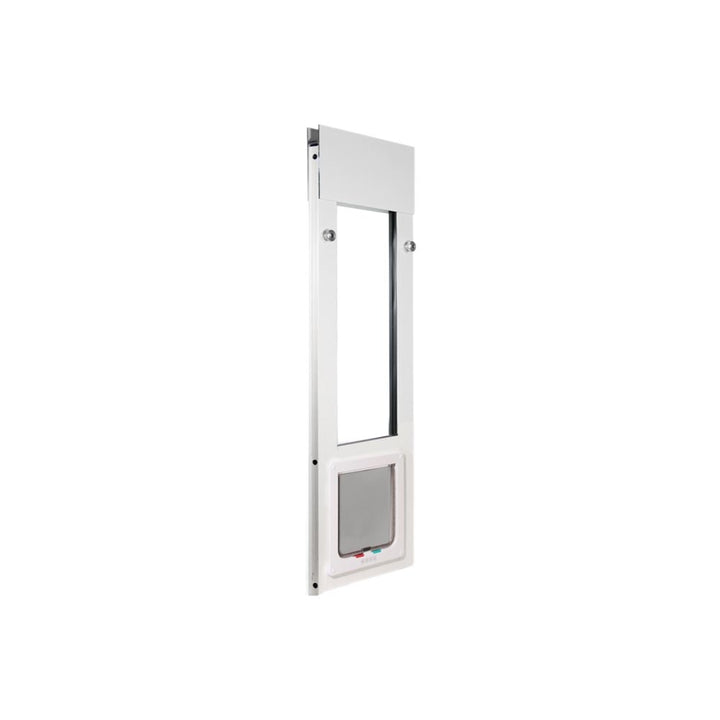 The Whiskers & Windows Cat Door for Horizontal Sliding Windows comes in both white and bronze