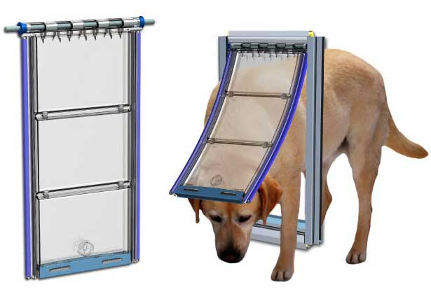 flexible flap give superior door weatherproofing on the Endura magnetic pet door