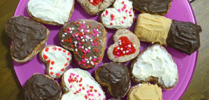 DIY Designer Valentine Cookies - dog treat recipes