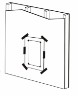 Template for dog door installation - dog door exterior wall