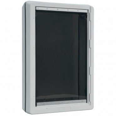 Ideal Ruff Weather pet door for doors has tunnel extensions available for wall installations