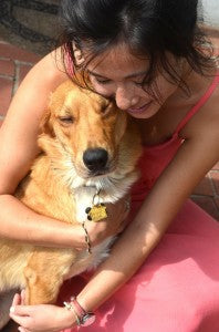 Loki hugging - when to get a dog - reasons to get a dog