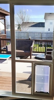 patio door with pet door built in: in glass doggy door for sliding glass door