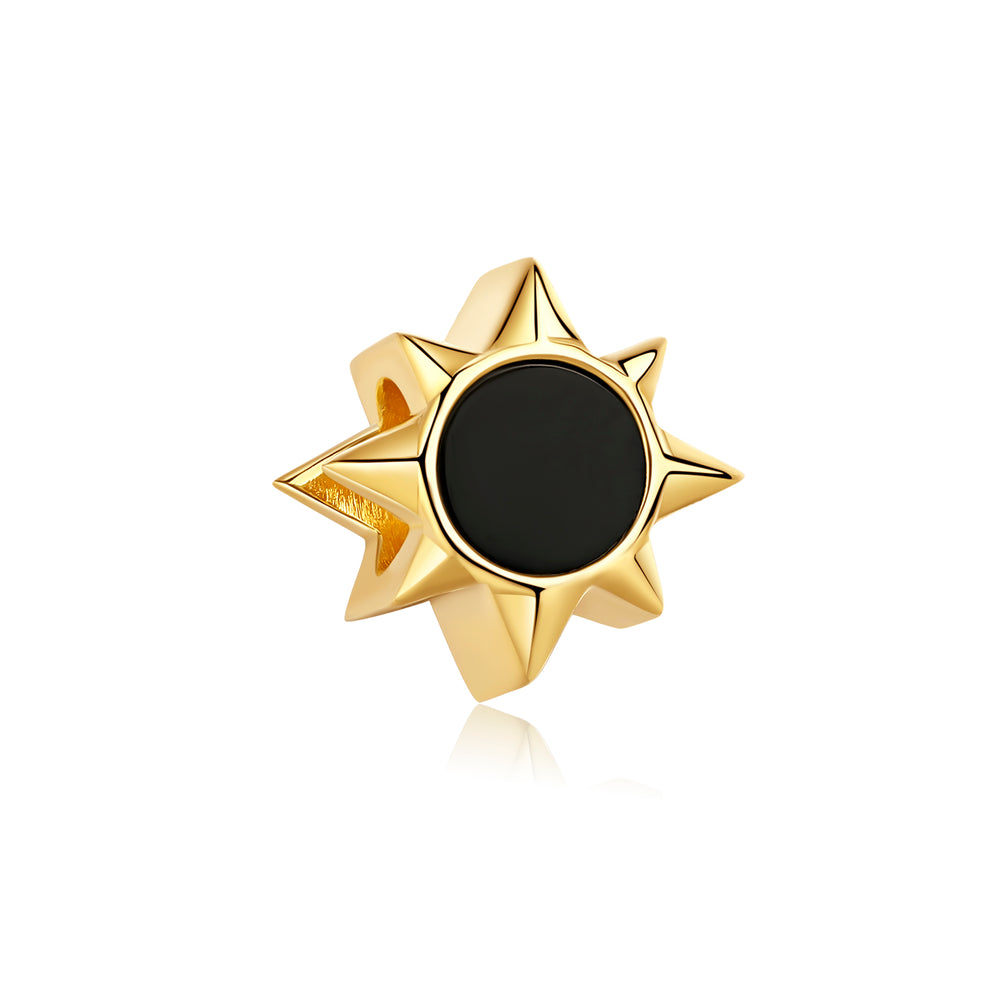 Load image into Gallery viewer, Black Onyx Sun Charm