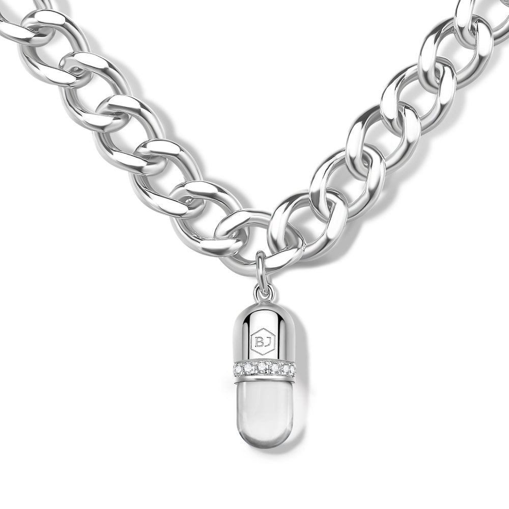 Quartz Diamond Magic Capsule Silver Bracelet